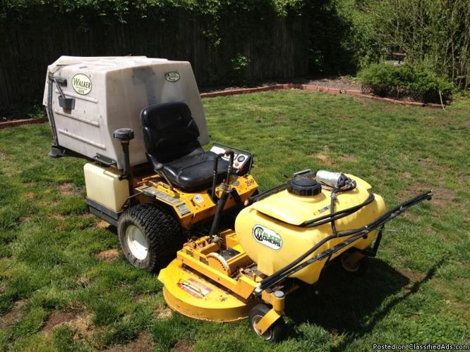 Walker Mower Mtefi With Sprayer Attachment For Sale In