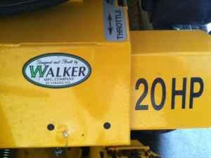 WALKER RIDING MOWER - $7500 (BORGER,TX)