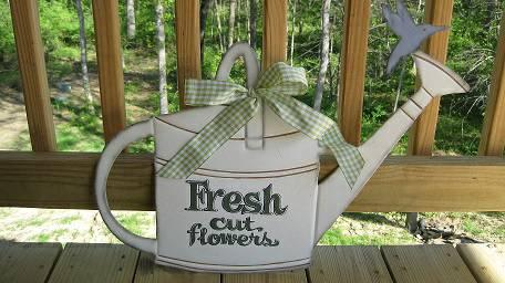 Wall hanging Watering Can & Spring Sign - $5