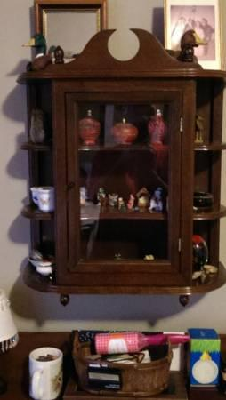 Wall Mounted Curio Cabinet - $75