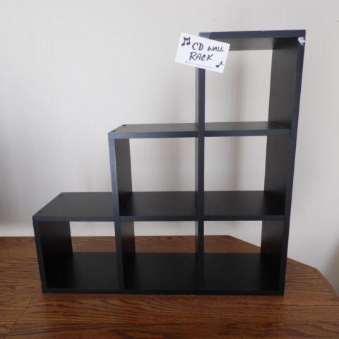 wall shelf display cd dvd wood shelves corner storage black home d cor for sale in lexington. Black Bedroom Furniture Sets. Home Design Ideas