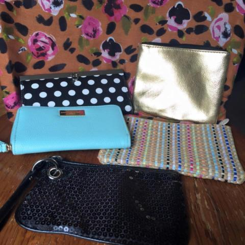wallets and make up bags