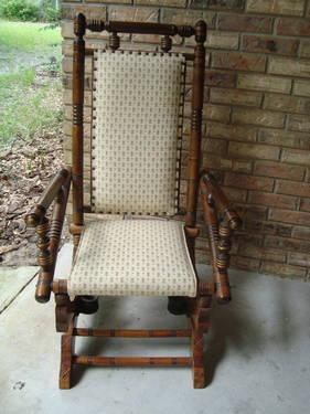 WALNUT ANTIQUE PLATFORM ROCKING CHAIR VINTAGE ROCKER & WALNUT ANTIQUE PLATFORM ROCKING CHAIR VINTAGE ROCKER EXCELLENT SHAPE ...