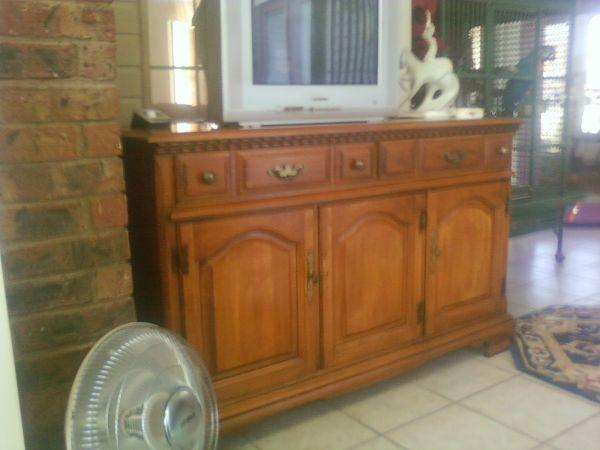 Want To Buy - SOLID WOOD BUFFET/HUTCH - $250