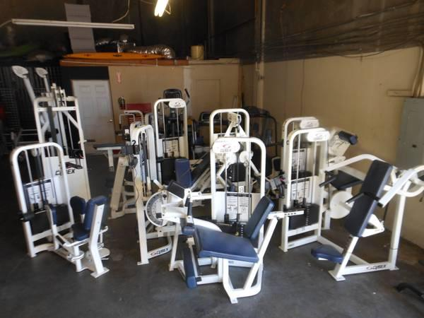 Warehouse full of Commercial Fitness Equipment for Sale in