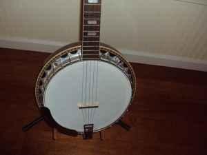 Washburn 5 String Banjo w Case, Strap,  Pickup - $275 Springfield