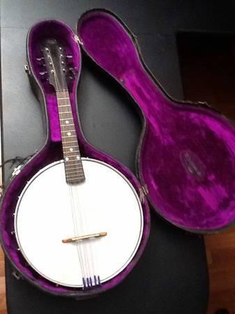 Washburn Banjolin  mandolin-banjo style C - $400