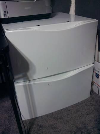 washer and dryer pedestals - $200