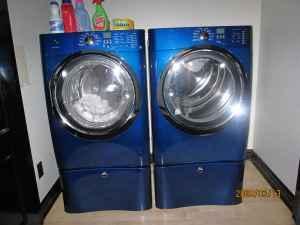 washer dryer electrolux medtran blue color arcadia ks for sale in joplin missouri. Black Bedroom Furniture Sets. Home Design Ideas