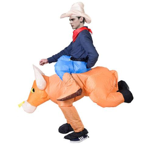 Waterproof Inflatable Motor Dress Horse Bull Unisex Costumes