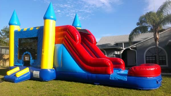 Waterslide party rental bounce house combo slides for Party house for sale
