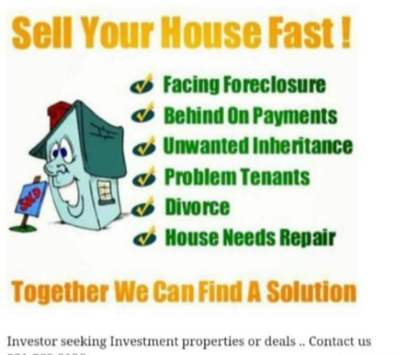 We buy home's fast for cash or terms in Louisiana or