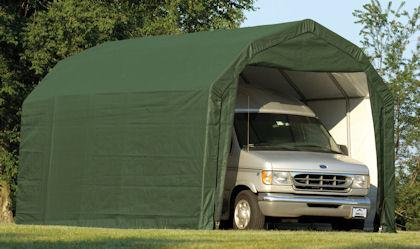 Weather-Shield Portable Garage Shelter– Barn Roof Style ...