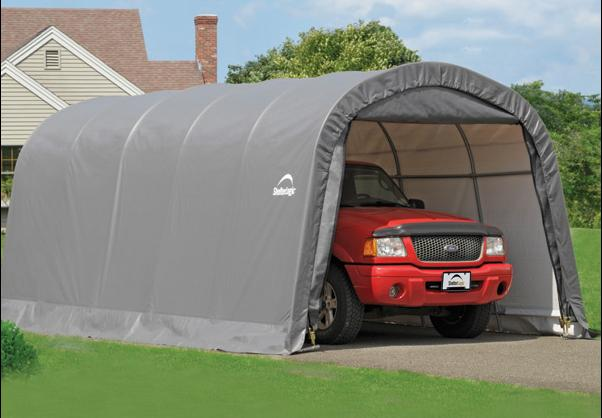 Weather-Shield Portable Garage Shelter– Round Roof
