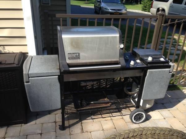 weber genesis gold gas grill w tank u0026 cover 150