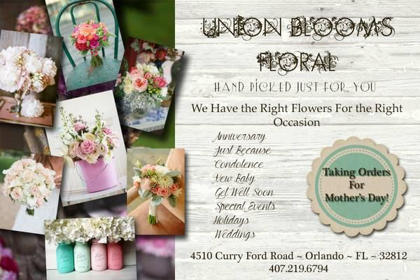 WEDDING, EVENT, PROM FLOWERS