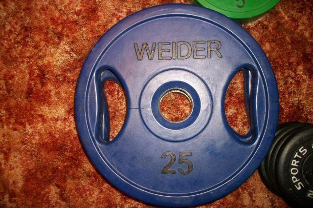 Weider Olympic Rubber Grip Weights Plates Amp Dumbbells