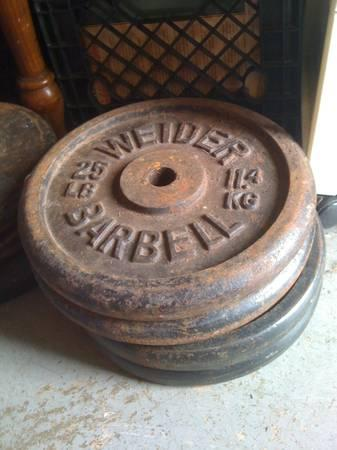 Weider Standard Weight Plates For Sale 75 Cents Lb For