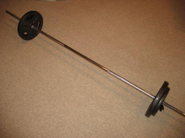 Weight bar and weights
