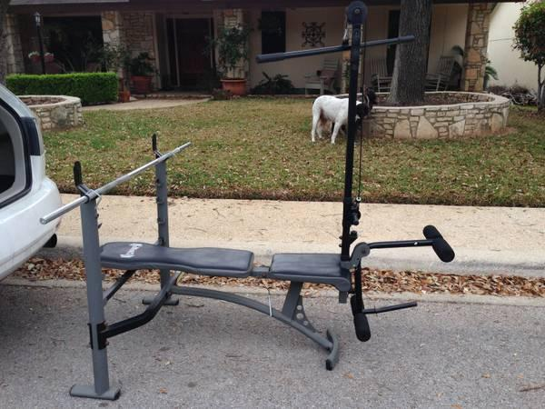Weight Bench With 25 Pound Bar 50