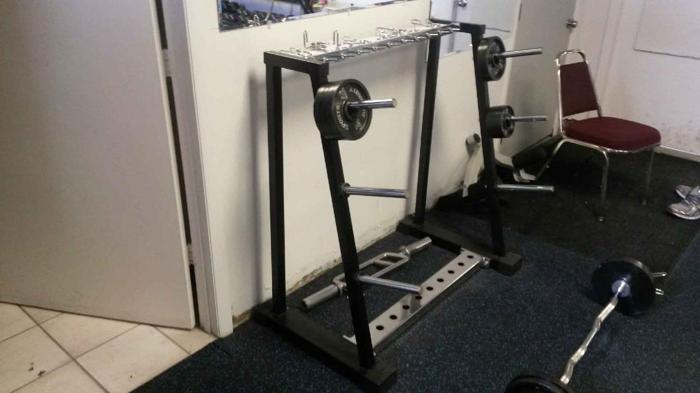 Weight Rack For Plates Sale or Trade $150 Sanford