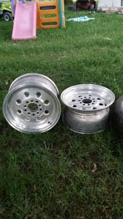 weld drag light rims skinny fronts wide rears - $650