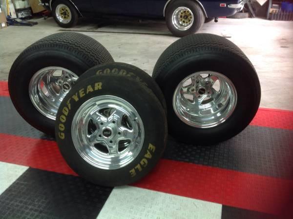 Weld Prostar Pro Street Wheels Tires 15x15 15x4 Mickey