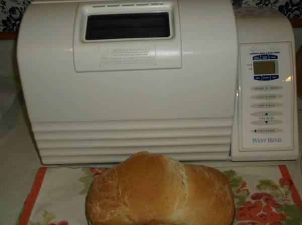 west bend bread machine