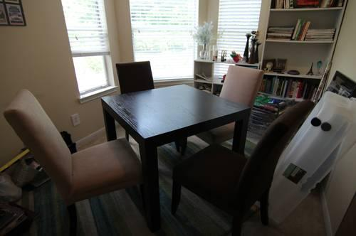 West Elm Dark Wood DINING TABLE Chairs For Sale In Nashville - West elm table and chairs