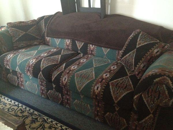 Western Aztec Couch And Loveseat For Sale Shelby For