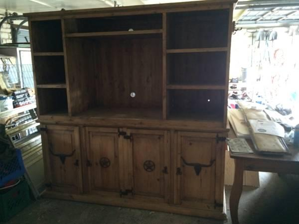 Western Cowboy Rustic Entertainment Center Today Need