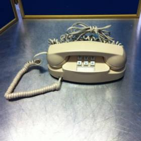 Western Electric Princess Push Button Beige Tan Phone Retro Vintage