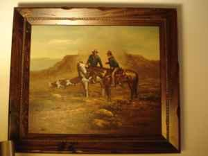 Western Oil Paintings by J. Sandford - $400 (Lady Lake)