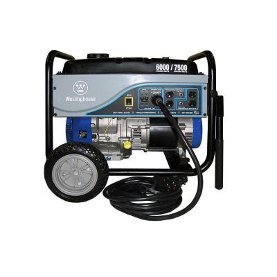 Westinghouse 6,000-Watt Gasoline Powered Portable Generator-Storm Unit with 25 ft. Power Cord