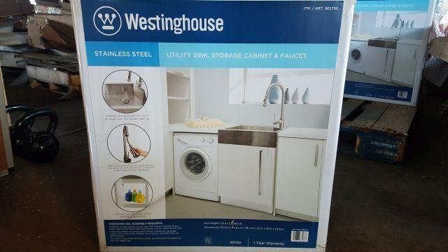 Westinghouse Stainless Steel Utility Sink Storage Cabinet