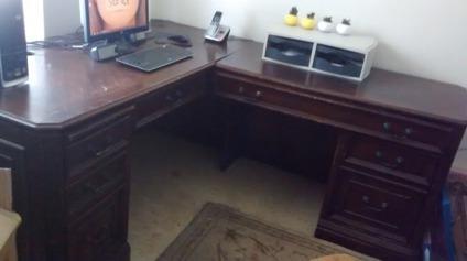 Whalen Furniture Brookhaven Computer Return Desk