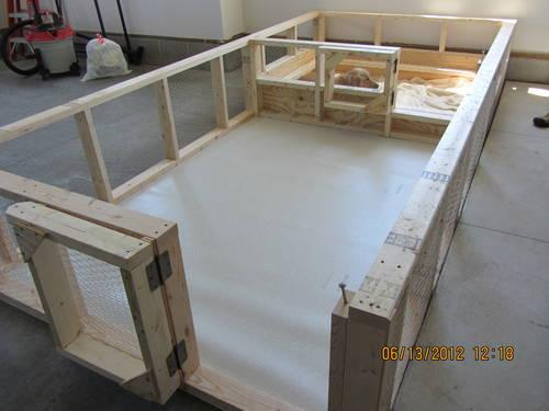 Whelping box with exercise area custom made for sale in for Breeding kennel designs