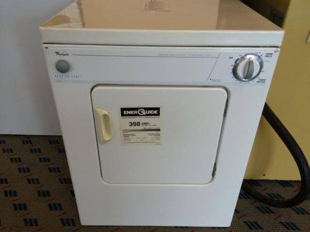 whirlpool 110 compact clothes dryer   used for sale in ta a