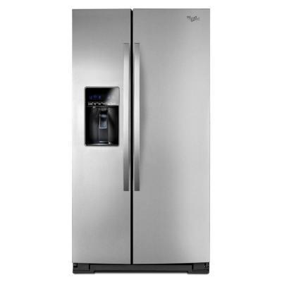 Whirlpool 26.5 cu. ft. Side by Side Refrigerator in Monochromatic Stainless Steel