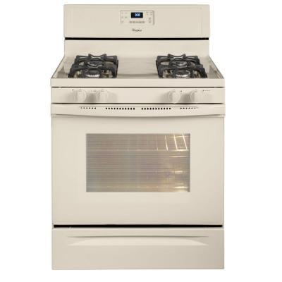 whirlpool 5 0 cu ft gas range with self cleaning oven in biscuit for sale in china lake. Black Bedroom Furniture Sets. Home Design Ideas