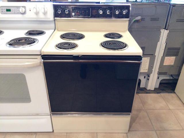 Whirlpool Bisque Amp Black Coil Burner Range Stove Oven