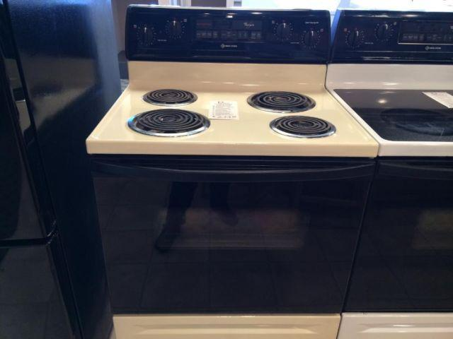 Whirlpool Bisque Coil Burner Range Stove Oven Used For
