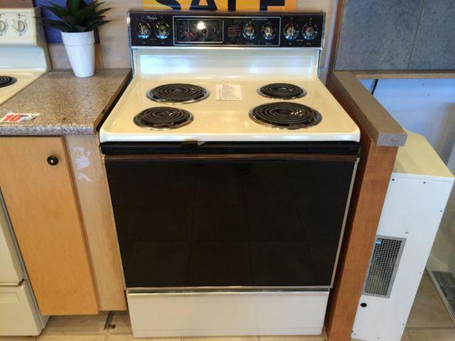 Whirlpool Bisque Electric Range Stove Oven Used For Sale