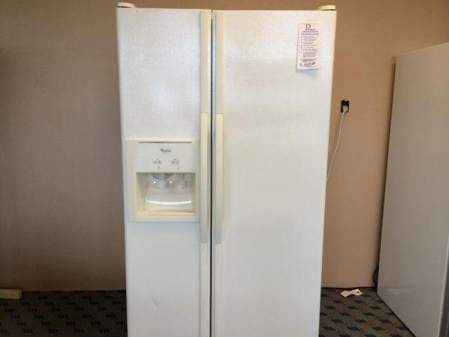 Whirlpool Bisque Side By Side Refrigerator Freezer Used