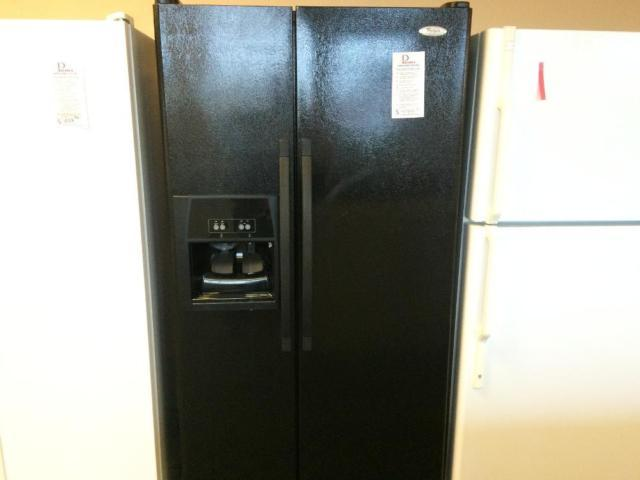 Whirlpool Black 25 Cf Side By Side Refrigerator Used For