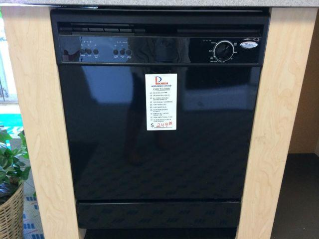 Whirlpool Black Built In Dishwasher Used For Sale In