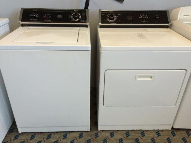 Whirlpool Black Console Imperial Washer Amp Dryer Set Pair