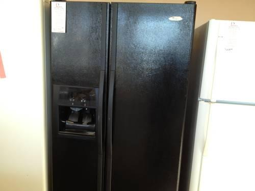 Whirlpool Black Side By Side Refrigerator Water And Ice In
