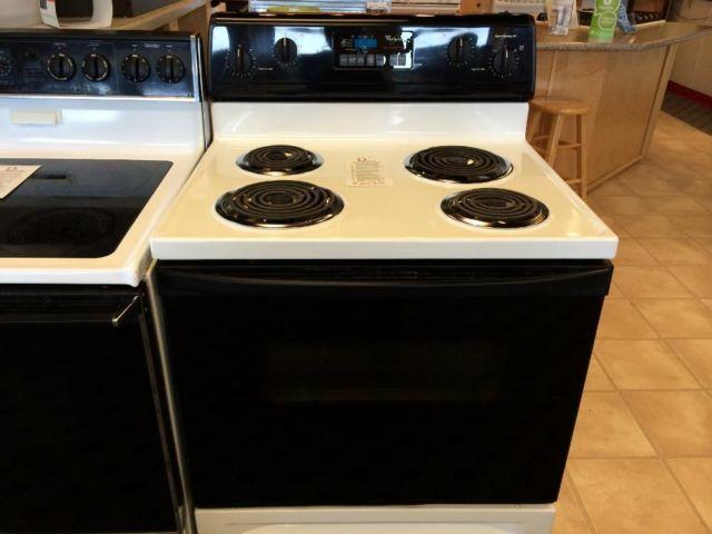 Black Electric Stove ~ Whirlpool black white electric range stove oven used