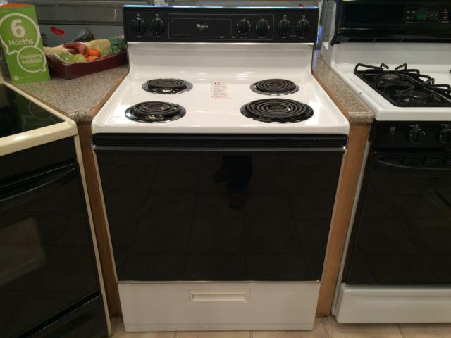 Whirlpool Black Amp White Electric Range Stove Oven Used